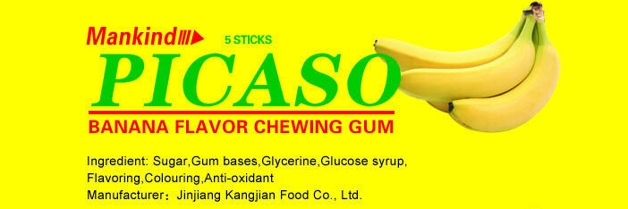 Picaso banana chewing gum