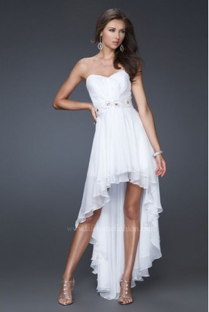 A-line Asymmetrical Tulle Sweetheart Beading Prom Dresses