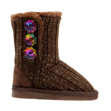 HC-508 kids boots crystal button