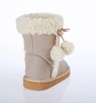 HC-529 Fur balls snow boots
