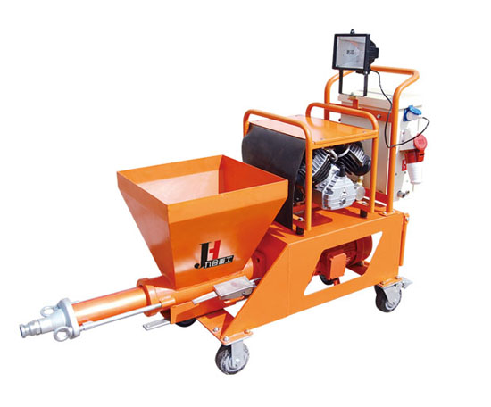 Putty mortar spraying machine