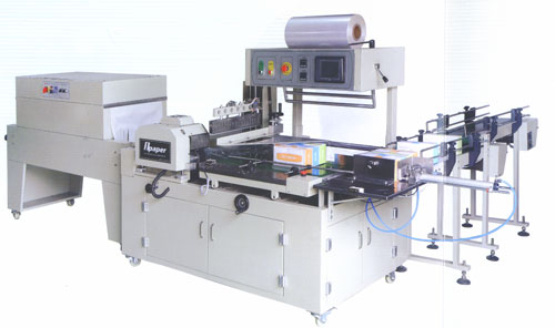 tomatic box paper collective thermal shrink packing machine