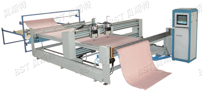 BST-8-2C Double head Continuous Single needle computerized quilting machine