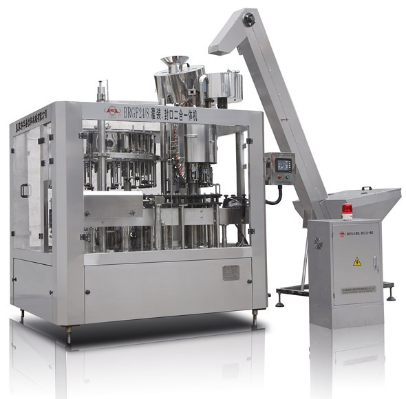The BRGF series filling machine mainly used in glass bottle packing.