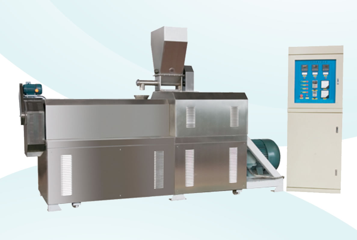 The extruded dog food processing line